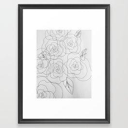warhol flowers Framed Art Print