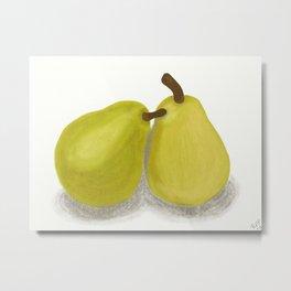 Pair of Pears Metal Print