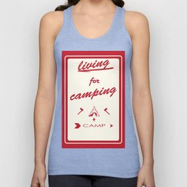 vintage mountaines camping design Unisex Tank Top