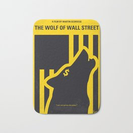 No338 My wolf wallstreet minimal movie poster Bath Mat