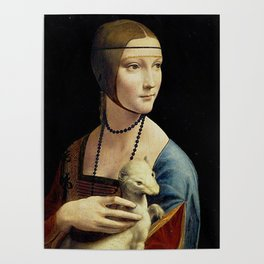 THE LADY WITH AN ERMINE - DA VINCI Poster