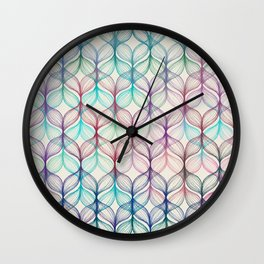 Mermaid's Braids - a colored pencil pattern Wall Clock