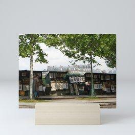 Paris Books Vendors b Mini Art Print