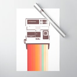 Instant Camera Rainbow Wrapping Paper