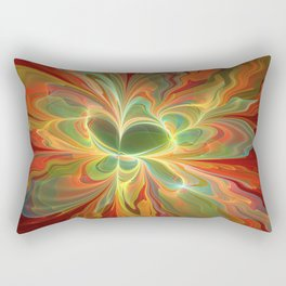 With a lot of Red, Abstract Art Rectangular Pillow