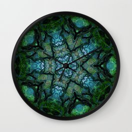 Lost in Moss Wall Clock