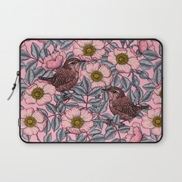 Wrens in the roses   Laptop Sleeve