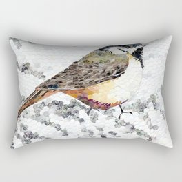 Chickadee Hole Punch Rectangular Pillow