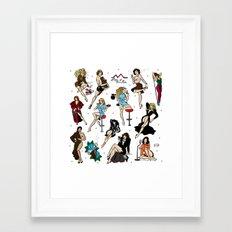 Ladies of Twin Peaks pattern Framed Art Print