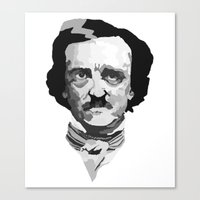 poe Canvas Prints featuring Poe by Brandi St. Romain