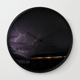 Country Lightning Wall Clock