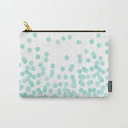 Scattered Glitter Dots in mint, green, pistachio, cool girly cute colors for trendy cell phone case Carry-All Pouch