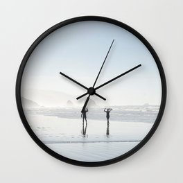 Echo Beach on 2017 New Year's Day Wall Clock