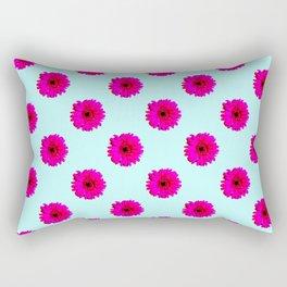 Pixel Art Flower Pattern Rectangular Pillow