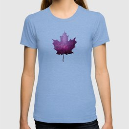 Purple Maple Leaf - Oh Canada T-shirt