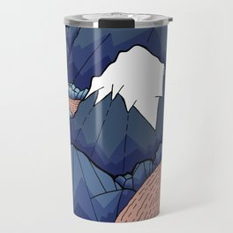 The twisting river in the mountains Travel Mug