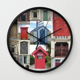 New Zealand Doors Wall Clock
