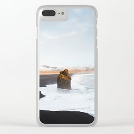 Black Sand Beach, South Iceland Clear iPhone Case