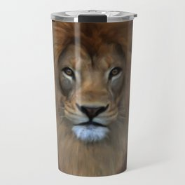 The Lion Known As King Of The Beasts Travel Mug