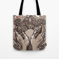 circle Tote Bags featuring Circle by Iris V.