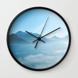 Mountains and ocean Wall Clock