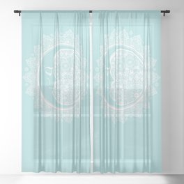 Mandala Moon Sea Kiss Sheer Curtain