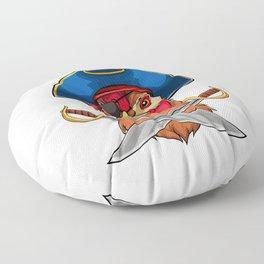 Pirate Chicken Viking Novelty Halloween Floor Pillow