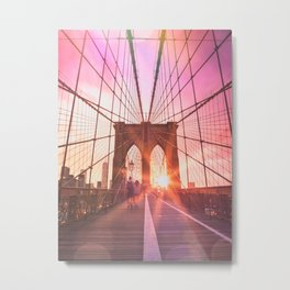 NYC Brooklyn Bridge Metal Print