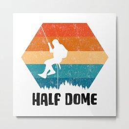 Climbing Gift Tee Climber TShirt Bouldering Shirt Half Dome Rock Climbing TShirt  Metal Print