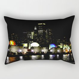 Navy Pier in Living Color: View from the Lake (Chicago Architecture Collection) Rectangular Pillow
