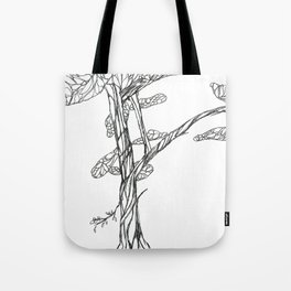 Tree on Bank of Eno Tote Bag