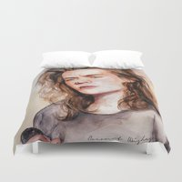 coconutwishes Duvet Covers featuring Harry watercolors III by Coconut Wishes