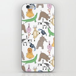 safari animal yoga iPhone Skin