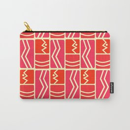 Pink and red rectangles Carry-All Pouch