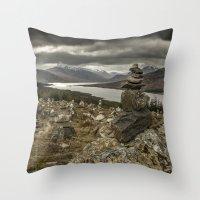 scotland Throw Pillows featuring Scotland by Miguel Cardoso