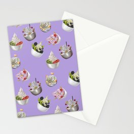 Android Eats: froyo pattern Stationery Cards