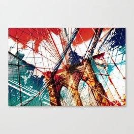 Brooklyn Bridge collage Canvas Print