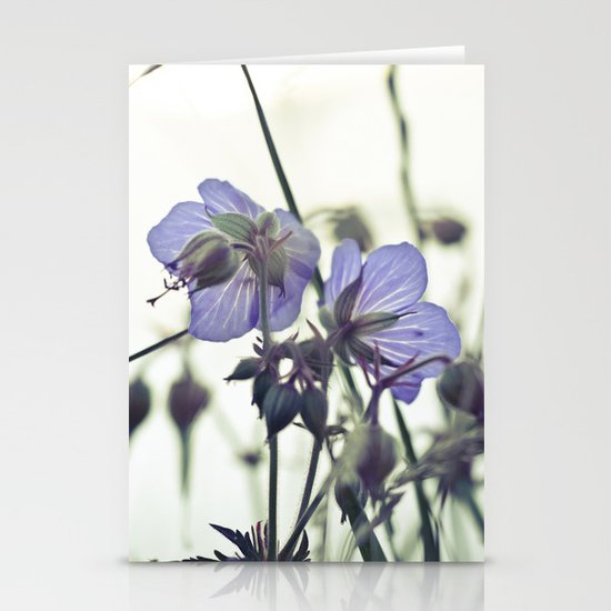Sunlit meadow Crane's-bill Stationery Cards