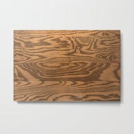 Grainy wood Metal Print