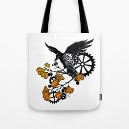 Raven and Ginkgo - Autumn Cycle Tote Bag