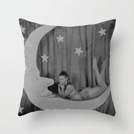 Paper Moon - Tintype Photo Throw Pillow