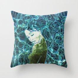 Ocean in a drop Throw Pillow