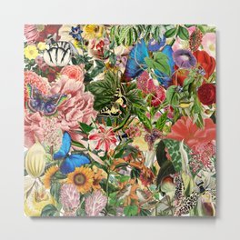 English Country Garden Metal Print