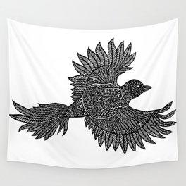 Flying Bird Papercut Design Wall Tapestry