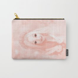 Peachy Pink Carry-All Pouch