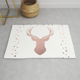 Reindeer - rose gold Rug