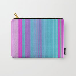 blue and pink color stripes Carry-All Pouch