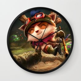 Classic Teemo League Of Legends Wall Clock
