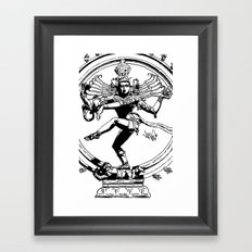 Natraj Dance - Mono Framed Art Print