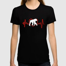 I Love Chimpanzees Heartbeat T-shirt